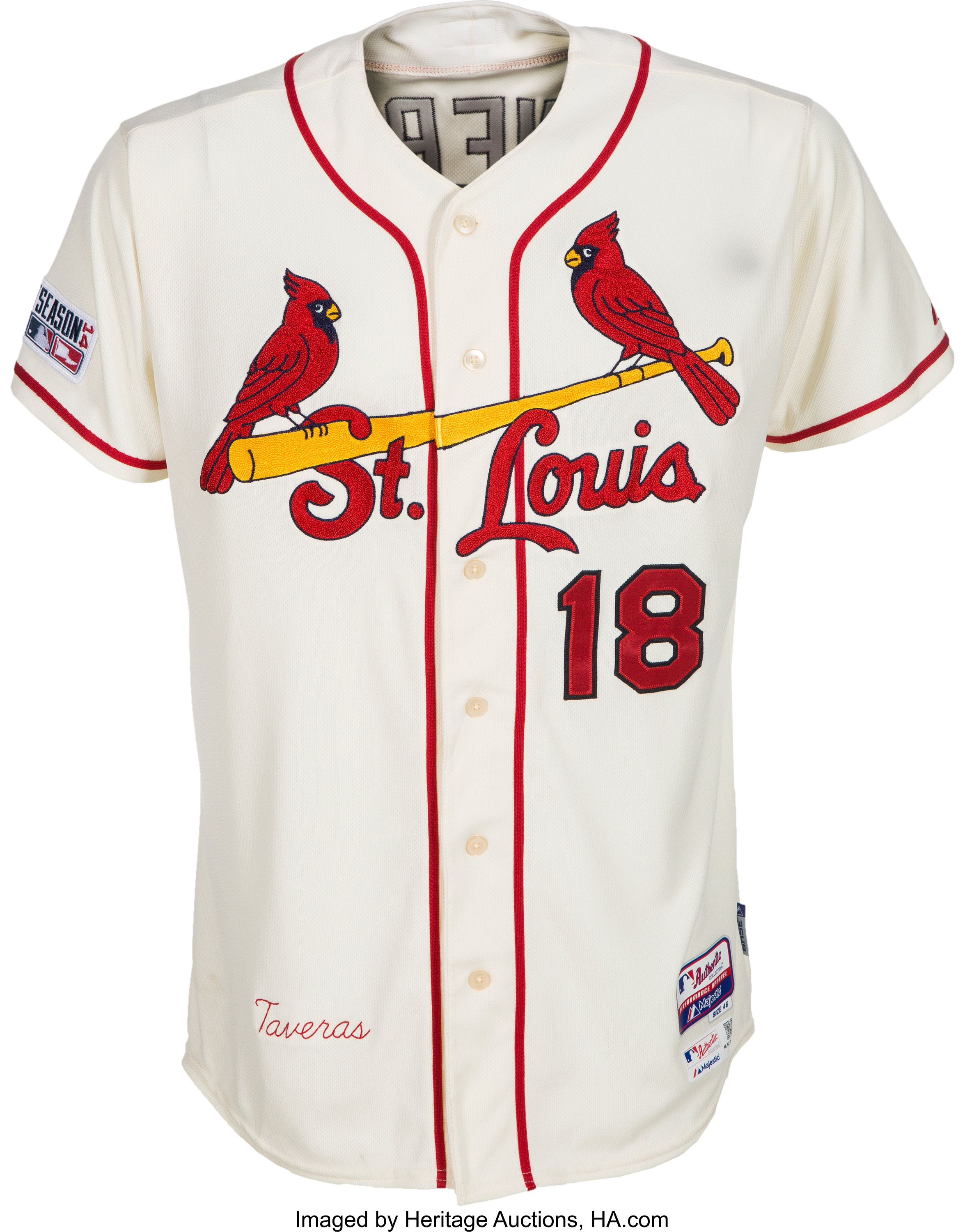 f4e7eab1 2014 Oscar Taveras Game Worn Signed St. Louis Cardinals Playoffs ...