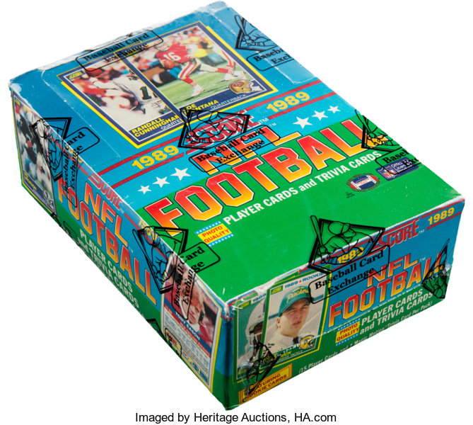 1989 Score Football Box With 36 Unopened Packs Football Cards