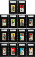 Baseball Cards:Lots, 1909-11 T206 Sovereign 350/460 SGC 80 EX/NM 6 Collection (14). ...