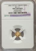 California Fractional Gold , 1856 25C Liberty Octagonal 25 Cents, BG-111, R.3, -- Damaged -- NGCDetails. Unc. NGC Census: (1/75). PCGS Population (8/25...