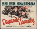 "Movie Posters:War, Desperate Journey (Warner Brothers, 1942). Half Sheet (22"" X 28"").War.. ..."
