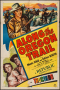 """Movie Posters:Western, Along the Oregon Trail & Other Lot (Republic, 1947). One Sheet (27"""" X 41"""") and Lobby Cards (5) (11"""" X 14""""). Western.. ... (Total: 6 Items)"""
