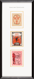 Books:Fine Press & Book Arts, [Bookplates]. Collection of Six Bookplates of Stage Magicians.[N.p., n.d.] Bookplates all feature magical or occult themes....(Total: 2 Items)