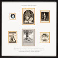 Books:Fine Press & Book Arts, [Bookplates]. Rockwell Kent. Collection of Fifteen Bookplates.[N.p., n.d.] ... (Total: 4 Items)