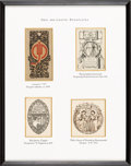 Books:Americana & American History, [Bookplates]. [Various artists]. Collection of Eighteen Arts andCrafts Bookplates. [American, late 19th to early 20th century...(Total: 5 Items)