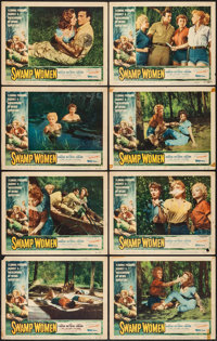 "Swamp Women (Woolner Brothers, 1956). Lobby Card Set of 8 (11"" X 14""). Bad Girl. ... (Total: 8 Items)"