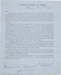 Autographs:Statesmen, Jefferson Davis West Point Appointment Signed Secretary of War....