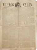 Miscellaneous:Newspaper, [William Henry Harrison]. Newspaper: The Log Cabin, Volume1, No. 17. ...