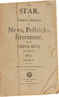Miscellaneous:Newspaper, The Star, Volume IV, Bound. ...