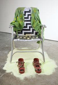 Christian Holstad (American, b. 1972) Cacoon, 2007 Vintage aluminum lawn chair, paint, 2xist underwe