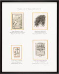 Books:Americana & American History, [Bookplates]. [Various artists]. Collection of Twelve Bookplates ofAmerican Scientists. [American, 1895 - 1940]. Bookplates... (Total:3 Items)