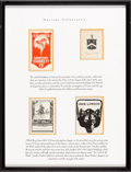 Books:Americana & American History, [Bookplates]. [Various artists]. Collection of Eighteen Writers'Bookplates. [Late19th to early 20th century]. Bookplates to...(Total: 4 Items)
