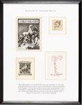 Books:Americana & American History, [Bookplates]. [Various artists]. Collection of Four Bookplates byProminent Artists. [America, Spain, early 20th century]. ...