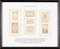 Books:Americana & American History, [Bookplates]. [John Kristensen; Bruce Rogers]. Collection ofFourteen Bookplates by John Kristensen and Bruce Rogers.[America... (Total: 2 Items)