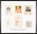 Books:Americana & American History, [Bookplates]. [Sara Eugenia Blake (1886-1973)]. Collection of SixBookplates by Sara Eugenia Blake. [American, 20th century]. ...