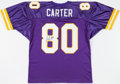 Football Collectibles:Uniforms, Cris Carter Signed Minnesota Vikings Jersey....
