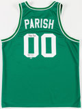 Basketball Collectibles:Uniforms, Robert Parrish Signed Boston Celtics Jersey....