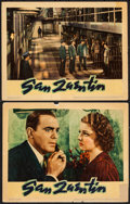 "Movie Posters:Crime, San Quentin (Warner Brothers, 1937). Lobby Cards (2) (11"" X 14"").Crime.. ... (Total: 2 Items)"