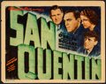 "Movie Posters:Crime, San Quentin (Warner Brothers, 1937). Title Lobby Card (11"" X 14"").Crime.. ..."