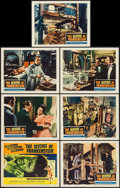 """Movie Posters:Horror, The Revenge of Frankenstein (Columbia, 1958). Title Lobby Card & Lobby Cards (6) (11"""" X 14""""). Horror.. ... (Total: 7 Items)"""