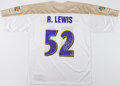 Football Collectibles:Uniforms, Ray Lewis Signed Baltimore Ravens Jersey....