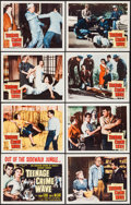 "Movie Posters:Exploitation, Teenage Crime Wave (Columbia, 1955). Lobby Card Set of 8 (11"" X14""). Exploitation.. ... (Total: 8 Items)"