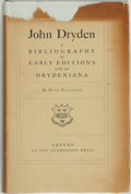 Books:Reference & Bibliography, Hugh MacDonald. John Dryden: A Bibliography of Early Editionsand of Drydeniana. Oxford: At the Clarendon Press,...
