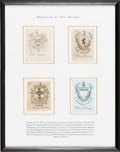 Books:Americana & American History, [Bookplates]. [Paul Revere]. Four Bookplates. [Boston, n.d.].Collection of Bookplates toned with scattered areas of foxing,...