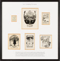Books:Americana & American History, [Bookplates]. [George Ainslie Hewett, Jay Chambers, DorothySturgis]. Collection of Fourteen Bookplates by Three ProminentDesig... (Total: 3 Items)