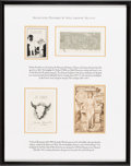 Books:Americana & American History, [Bookplates]. [Various artists]. Collection of Four Bookplates.[Oxford, France, New York, late nineteenth- to early twentieth...