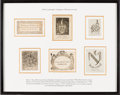 Books:Americana & American History, [Bookplates]. Collection of Thirteen Eighteenth-Century AmericanBookplates [Virginia, Philadelphia, Maryland, n.d., ca. 180...(Total: 3 Items)