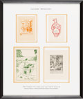 Books:Food & Wine, [Bookplates]. Collection of Four Bookplates from CulinaryCollections. [N.p., n.d., ca. 1930-1960]. ...