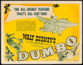 "Movie Posters:Animation, Dumbo (RKO, 1941). Title Lobby Card (11"" X 14""). Animation.. ..."