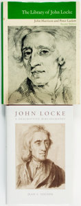 Books:Reference & Bibliography, John Locke, subject. Pair of Bibliographical Titles. Variouspublishers and dates.... (Total: 2 Items)