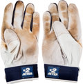 Baseball Collectibles:Others, 2012 Derek Jeter Game Worn Batting Gloves. ...