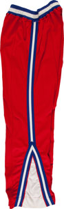 Basketball Collectibles:Others, 1960's Dallas Chaparrals Game Worn Shooting Pants. ...