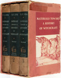 Books:Metaphysical & Occult, Henry Charles Lea. Materials Toward a History of Witchcraft.New York: Thomas Yoseloff, [1957].... (Total: 3 Items)
