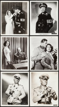 """Movie Posters:War, Five Graves to Cairo & Others Lot (Paramount, 1943). Scene andPortrait Photos (9) (8.25"""" X 10""""). War.. ... (Total: 9 Items)"""