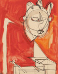 , Hans Hofmann (American, 1880-1966). Untitled, 1944. Gouacheon paper. 23 x 18-1/2 inches (58.4 x 47.0 cm). Signed in ink...