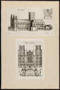 Books:Art & Architecture, [Sixteen Plates]. Daniel King. The Cathedrall and Conventuall Churches of England and Wales. London: 1656. ...