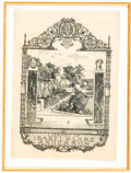 Books:Americana & American History, [Bookplates]. Eight Bookplates with Garden Motifs. [N.p., n.d.]. .... (Total: 2 Items)