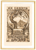 Books:Americana & American History, [Bookplates]. Eighteen Bookplates with Tree Motifs. [N.p.,n.d.].... (Total: 3 Items)