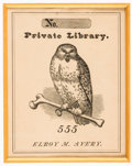 Books:Americana & American History, [Bookplates]. Ten Early Pictorial Bookplates. [America, ca. 1850].... (Total: 2 Items)