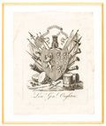 Books:Americana & American History, [Bookplates]. Six British Military and Trophy Bookplates. [Britain,1702, 1752, 1770, 1789, 1810, c. 1943]. ... (Total: 2 Items)