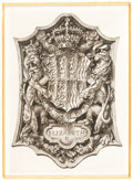 Books:Americana & American History, [Bookplates]. Thirteen British Royalty Bookplates. [Britain, 1731 -1937]. ... (Total: 4 Items)