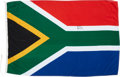 Autographs:Non-American, Nelson Mandela Signed South African Flag....