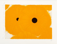 Donald Sultan (American, b. 1951) Six Yellows, July 24, 2002 Screenprint in colors with flocking on