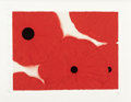 Post-War & Contemporary:Contemporary, Donald Sultan (American, b. 1951). Five Reds, May 28, 2002.Screenprint in colors with flocking on Somerset paper. 22-1/...
