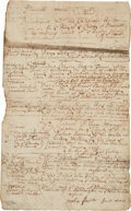 Miscellaneous:Ephemera, Colonial Court Document from Plymouth. ...