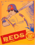 Post-War & Contemporary:Contemporary, Andy Warhol (American, 1928-1987). Pete Rose, 1985. Uniquescreenprint on Lenox Museum Board. 39-3/8 x 31-1/2 inches (10...